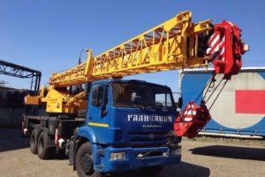 аренда автокрана 25 тонн стрела 28 - 31 метр