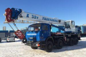 Услуги крана 32 тонны